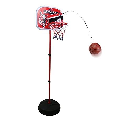 Canastas Baloncesto Niño Infantil con Balón Canasta Ajustable para Interiores y Exteriores Juego de Baloncesto de Deporte Juguete Educativo para Niños ...