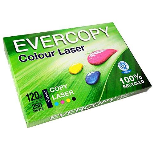 EVERCOPY Lot de 5 Ramettes 250 Feuilles Papier 120g A4 210x297 mm Certifi/é Ange Bleu Laser Blanc