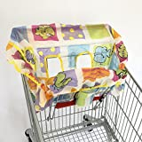 Baby Seat Covers Foldable Shopping Cart Cushion Pad Protecting Cover Seat Safety Belt Infant HighChair Mat (Marine life, Medium Size fits almost shopping carts)