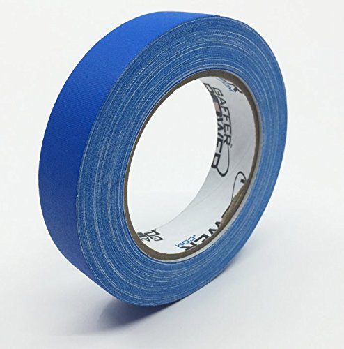 REAL Professional Grade Gaffer Tape by Gaffer Power, Made in the USA, ELECTRIC BLUE- 1 Inch X 30 Yards, Heavy Duty Gaffers Tape, Non-Reflective, Multipurpose, Better than Duct Tape