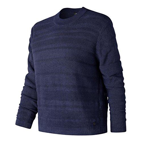 New Balance Women's Sheer Studio Sweater, Pigment, X-Small