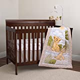 Disney Lion King Simba and Nala 3-Piece Nursery Crib Bedding Set, Ivory/Sage/Grey/Yellow