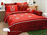 LFC Liverpool Fc Football Club Soccer Team Official Licensed Bed Sheet Set, Fitted Bed Sheet, Pillow Case, Bolster Case (Not included Comforter) LI003 Set A (Twin 42''x78'')