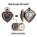 JewelryWe Men Women Pocket Watch Quartz Watch