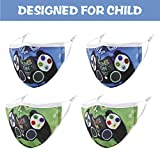 Game Washable Kids Face Mask, Cute Reusable