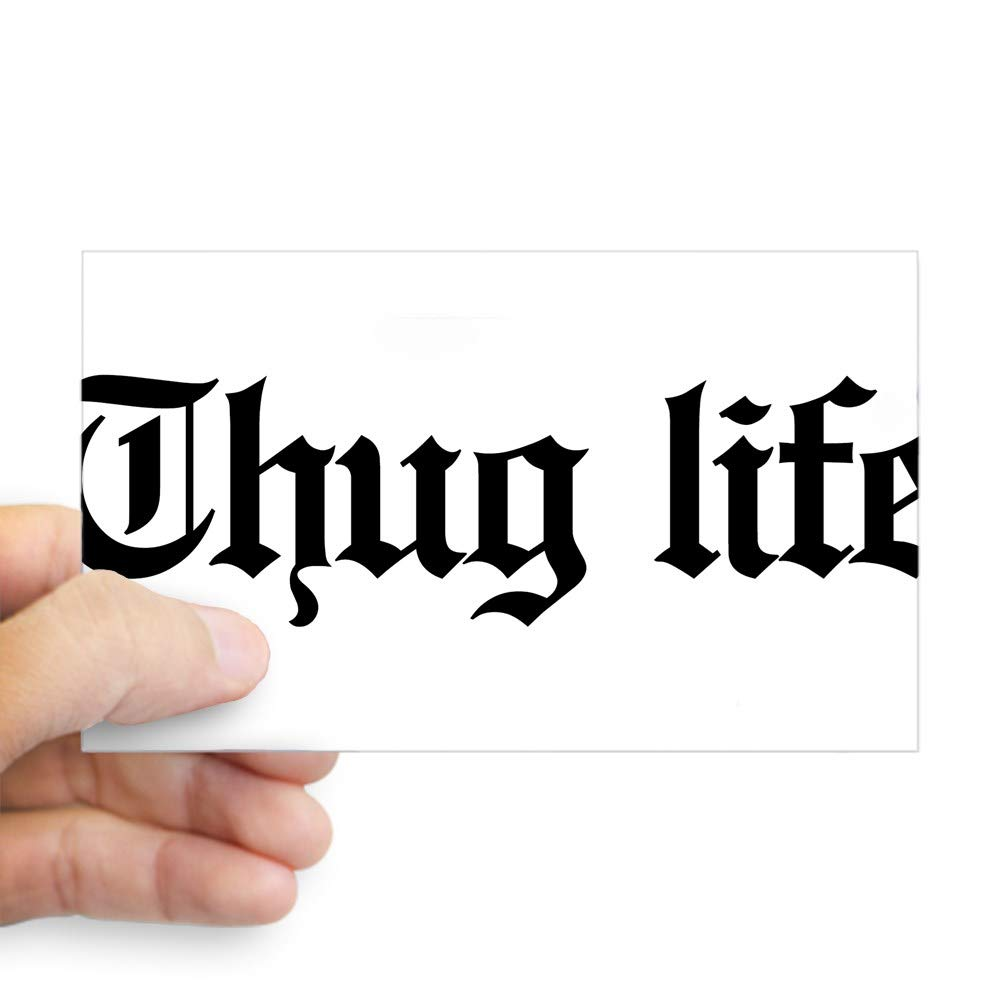 Amazon com cafepress thug life gangster baby g rectangle bumper sticker car decal home kitchen