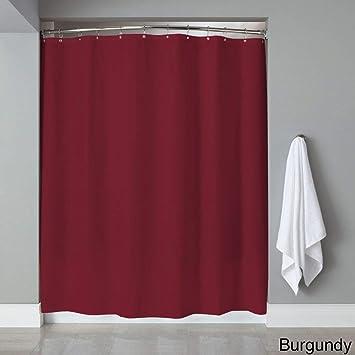 Bed Bath N More Vinyl Shower Curtain Liner With 12 Piece Chrome Roller Hook Set