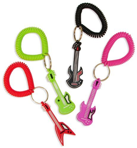 Fun Express Rock Star Rubber Key Chains  1 Dozen