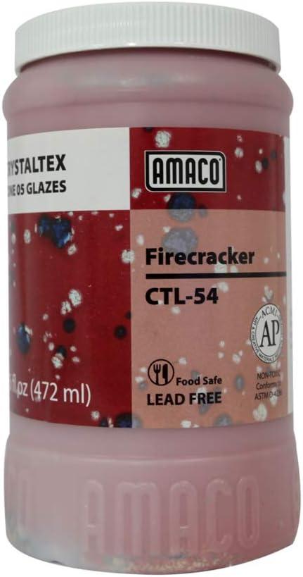 Firecracker CTL-54 1 Pint AMACO Crystaltex Glaze