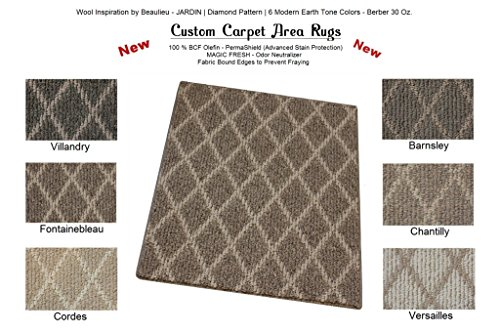 Cheap Oval 3'X5′ Chantilly – JARDIN | Diamond Pattern | Custom Carpet Area Rugs & Runners – 30 Oz. Berber Style in Modern Earth Trones | 6 Colors to Choose From