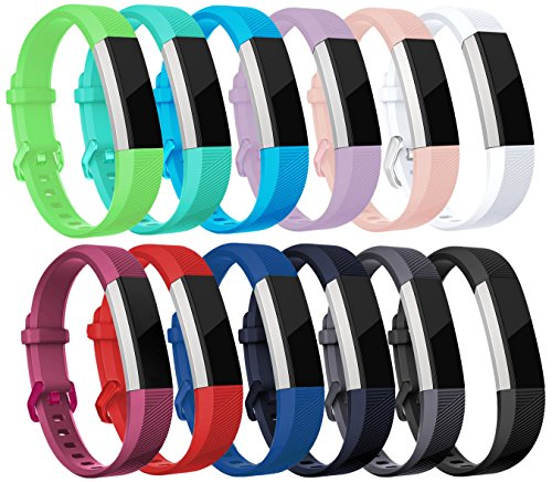 sunyfeel Newest Fitbit Ace/Alta HR Band Replacement, 12 colors Fashion Sports Silicone Personalized Replacement Bracelet with Metal Clasp for Fitbit Alta HR/Alta by sunyfeel
