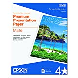 Epson S041257 Premium Matte Presentation Paper, 45 lbs., 8-1/2 x 11 (Pack of 50 Sheets)