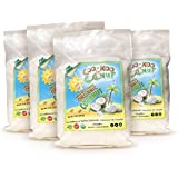 Organic Shredded Coconut 2 lbs, Unsweetened, 4 Pack of 8 oz, Fine, Gluten free, w/ Premium Recipe E-Cookbook, for Macaroons, Pies, Coconut Milk and Coconut Butter