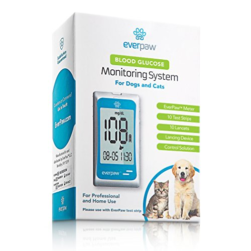 EverPaw Diabetes Blood Glucose Monitoring System for Pet Testing in Dogs and Cats, Complete Starter Kit