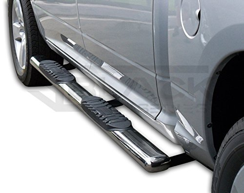 2009-2018 Dodge Ram Quad Cab | 5' SS Oval Step Bars | Running Boards (Pair) Black Series Canada