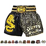 Top King Muay Thai Boxing Shorts Kick Boxing Fighting Training TK-TBS-34 , Size S, M, L, XL, XXL (M)
