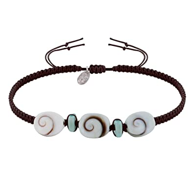 ae8885df6fe07 Les Poulettes Jewels - Bracelet Braided Link Larimar Paved and Three ...