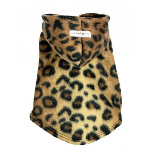Hip Doggie HD-7PFLP-XXS 2XS Leopard Fleece Hoodie