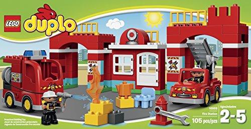 Amazon.com: LEGO DUPLO Town 10593 Fire Station Building Kit: Toys ...