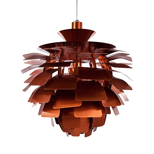 Artichoke Copper Pendant Light in US - 5