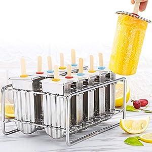 3 pezzi stampi per creatore di ghiaccioli, famiglia 304 testa rotonda in acciaio inox stampo per gelato muffa per… 6 spesavip