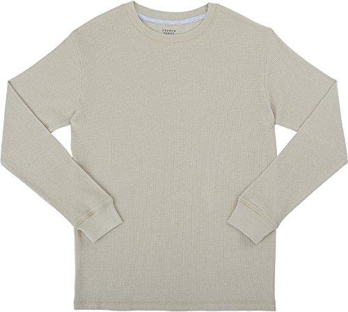 french-toast-school-uniform-boys-long-sleeve-thermal-t-shirt-heather-humus-x-large-14-16