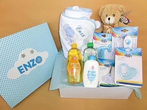 Set Regalo Bebé - Canastilla para recién nacido en rosa o azul, el ...
