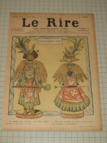 - 1897 Le Rire Color Lithograph By Lucien Metivet