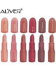 Matte Lipstick, ALIVER 6 Colors Lipstick Set, Long Lasting...