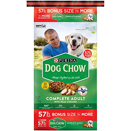 Purina Dog Chow Complete Adult Chicken and Barley Dry Dog Food NEW REAL CHICKEN (57 lbs.) (pack of 4) by Unknown