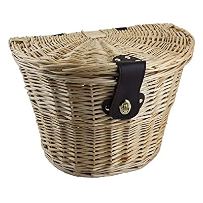 SUNLITE Willow Picnic Basket, 14.5 x 10.5 x 9, Natural : Bike Baskets : Sports & Outdoors