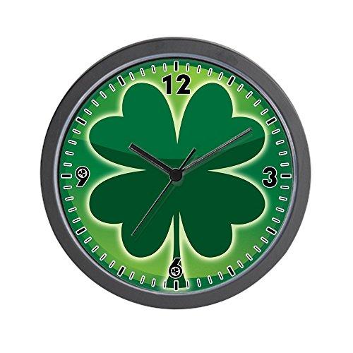 Wall Clock Shamrock Four Leaf Clover