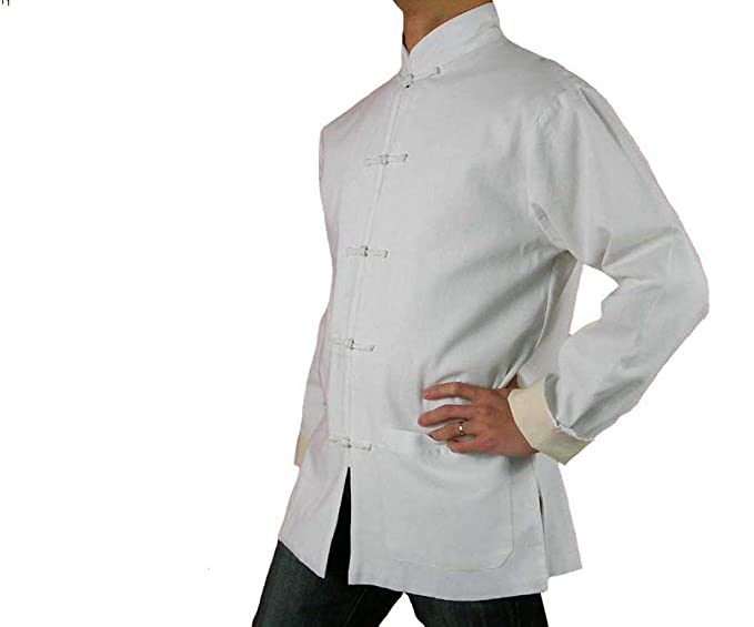 dd9819a7de Fine Linen White Kung Fu Martial Arts Tai Chi Jacket Coat XS-XL or Tailor  Custom Made + Free Magazine  Amazon.co.uk  Clothing