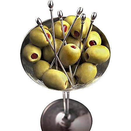Prodyne Classic Martini Picks Set of 6 Metallic