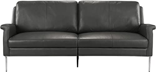 MidCentury Leather Sofa - a good cheap living room sofa