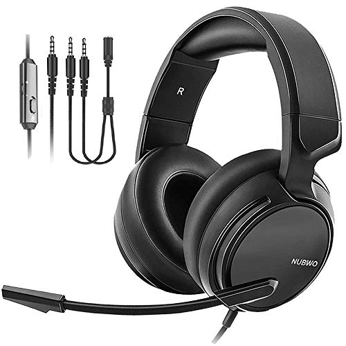 NUBWO N12 Gaming Headset & Xbox one Headset & PS4 Headset,3.5mm Surround Stereo Gaming Headphones with Mic Soft Memory Earmuffs for PC,Laptop, PS3, Video Game with Flexible Microphone Volume Control (The Best Gaming Pc Ever)