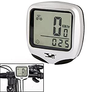 YS-468B LCD Screen Electronic Bicycle Speedometer (Silver)