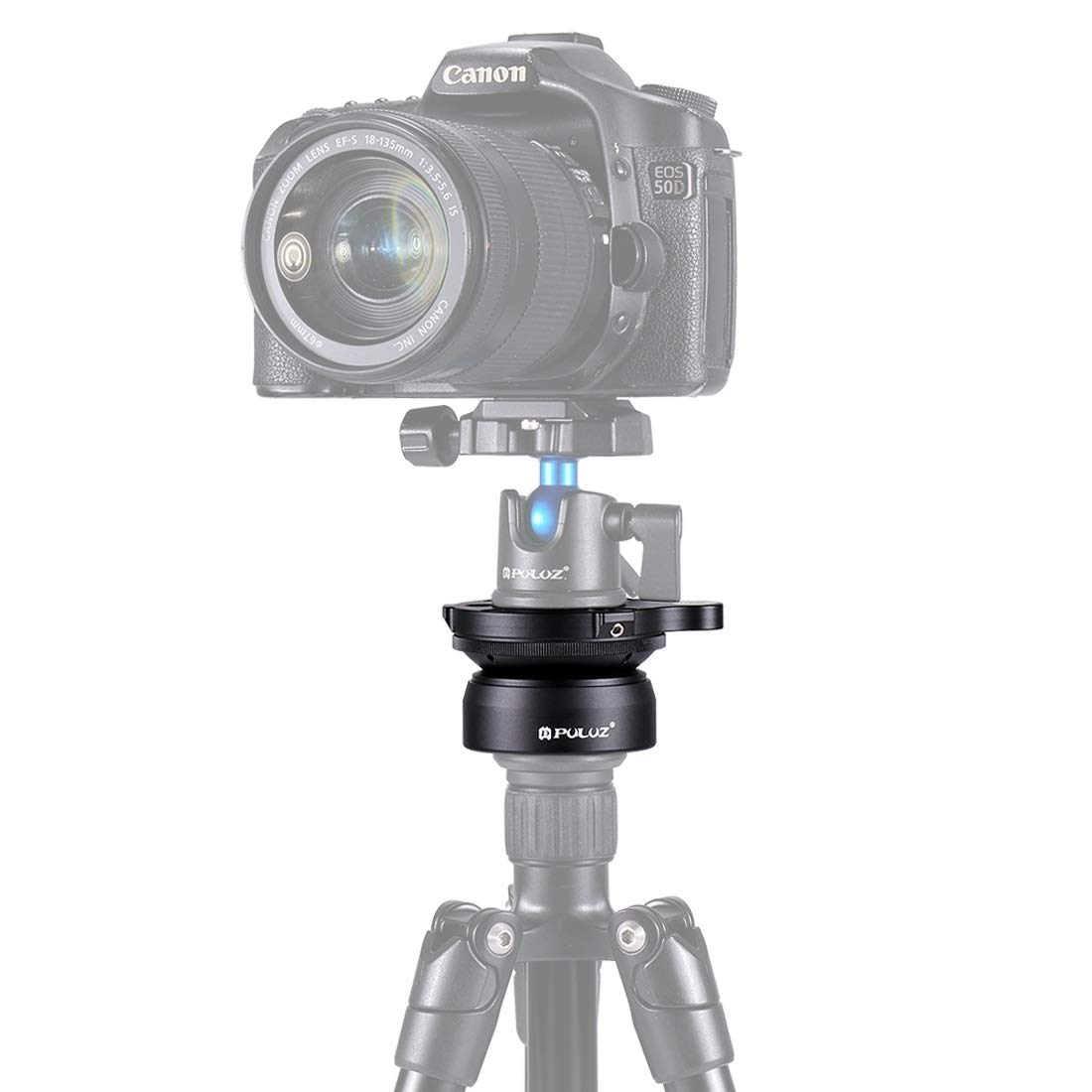 CAOMING 3/8 Inch Thread Dome Professional Tripod Leveling Head Base with Bubble Level Durable by CAOMING