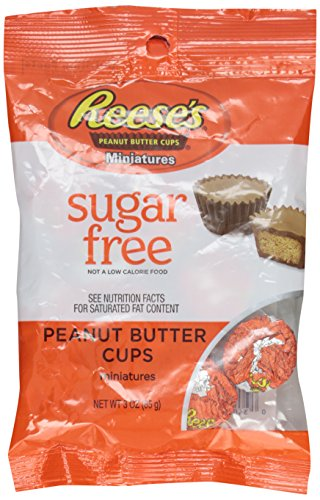 REESE'S SUGAR FREE Peanut Butter Cups Miniatures, 3 Ounce