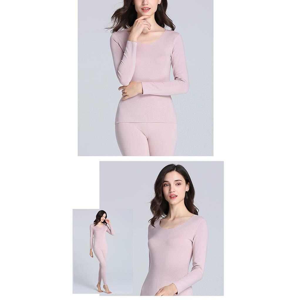 Imzoeyff Maglietta Intima Termica da Donna in Cotone A Maniche Lunghe Leggera Leggera Senza Maniche T-Shirt da Fondo Invernale Slim Fit Comoda