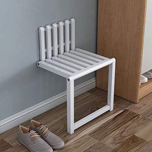 Schuhbank, Wand Klappstuhl Unsichtbarer Klappstuhl Sitz sparen Schuhbank Last 200 kg, zu Händen Schlafzimmer, Badezimmer, Lobby, Wohnzimmer Klappstühle (Weiß)