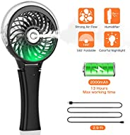 COMLIFE Handheld Misting Fan Portable Hand Fan-Mini Rechargeable Battery Operated Fan, Foldable Personal Trave