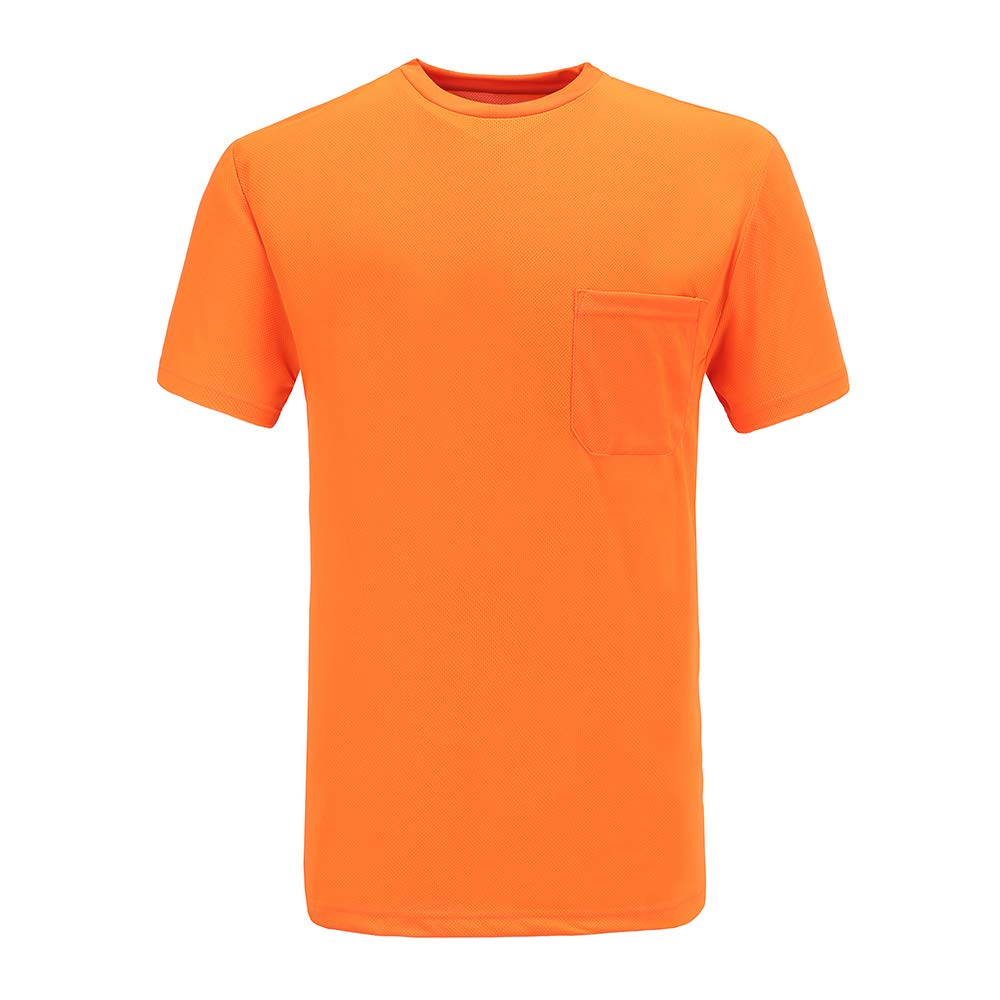AYKRM hi vis T-Shirt with Pocket Short Sleeve