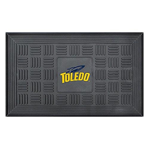 Toledo Rockets Car Mats (NCAA University of Toledo Medallion Door Mat, Small, Black)