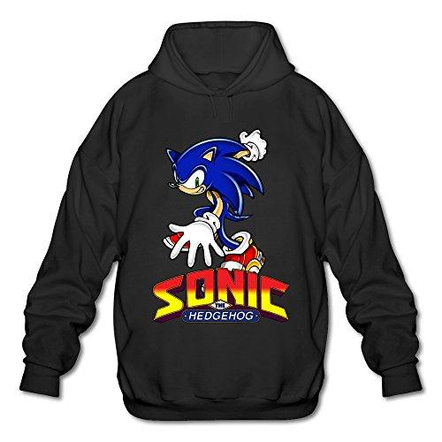 JeFF Men's Sonic The Hedgehog ACT Long Sleeve Sweatshirt Hoodies Black Large (US Size)]()