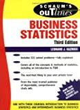 img - for Schaum's Outline of Business Statistics by Leonard J. Kazmier (1996-07-01) book / textbook / text book