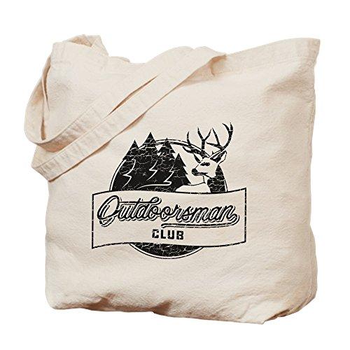 Cafepress Club Outdoorsman Bolsa Medium Caqui Lona rHrFqg65w