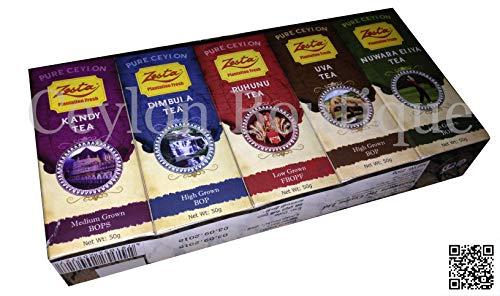 Zesta Ceylon 5 Regional Not Flavored PREMIUM BLACK TEA, 250g loose tea (8.81 Oz)