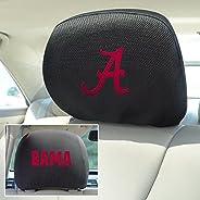 Fan Mats FAN-12607 Alabama Crimson Tide NCAA Polyester Head Rest Cover, Pack