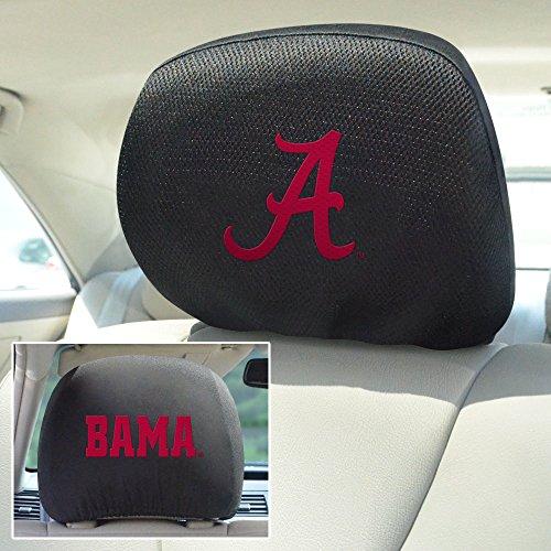 Headrest Ncaa Covers (Fan Mats FAN-12607 Alabama Crimson Tide NCAA Polyester Head Rest Cover, Pack of 2)